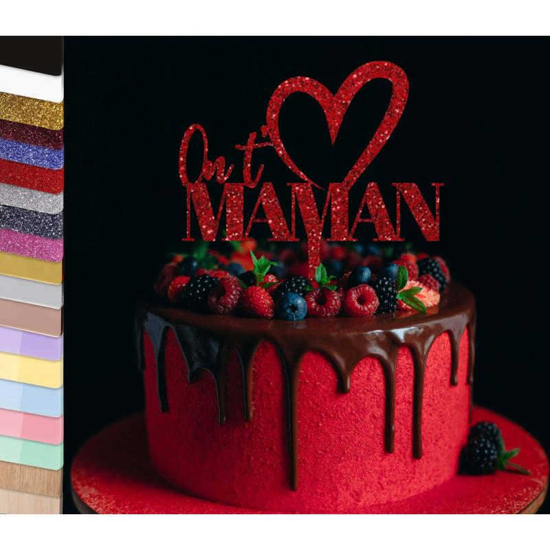 Topper pastel personalizado Te queremos y nombre