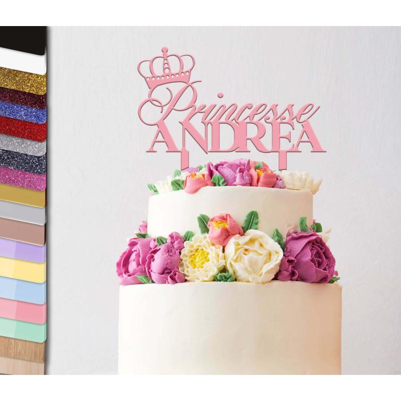 Topper pastel personalizado Princesa Corona
