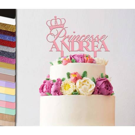 Topper personalized cake Princess Crown