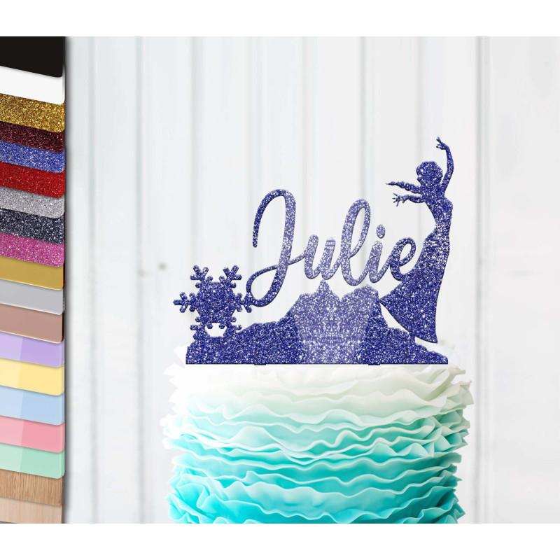 Topper gâteau personnalisé Reine des neige