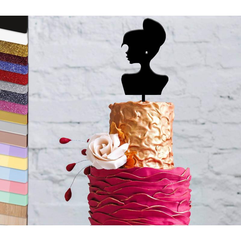 Topper gâteau personnalisé Buste femme mode