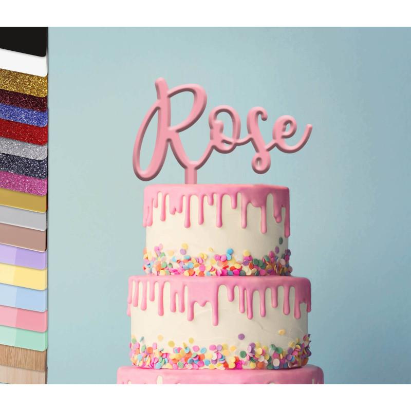 Topper personalized cake Ecriture Charilla