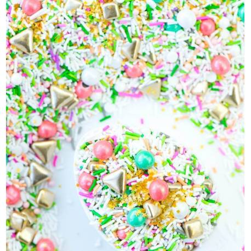 Mezcla de Sprinkles Garden verde, blanco, rosa, Sweetapolita 100g