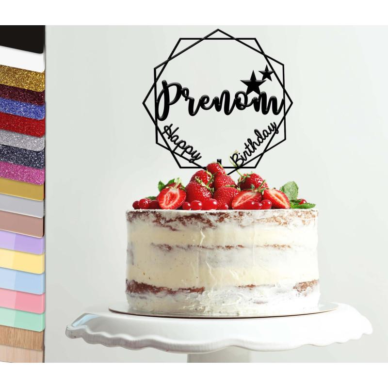 Topper pastel personalizado del polígono estelar