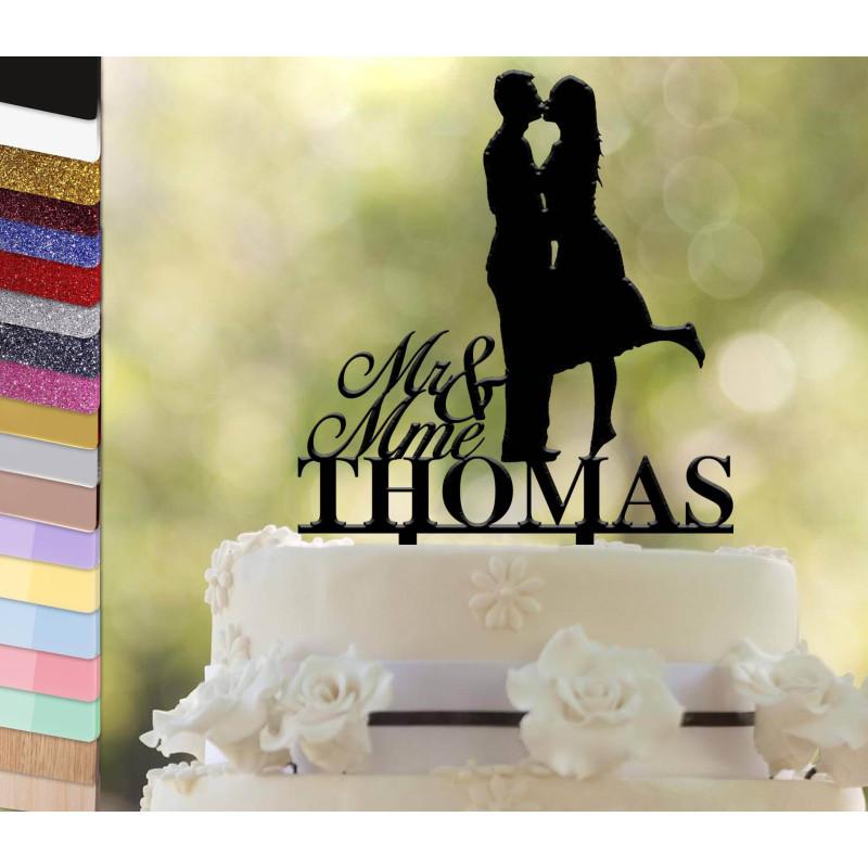 Topper pastel personalizado Parejas de boda