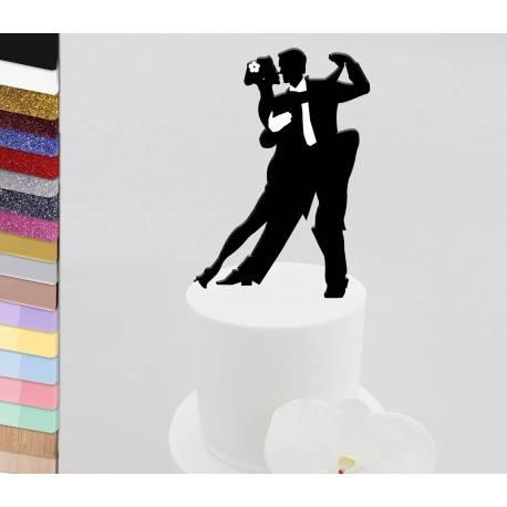 Topper pastel de bodas personalizado Bailarines de salsa