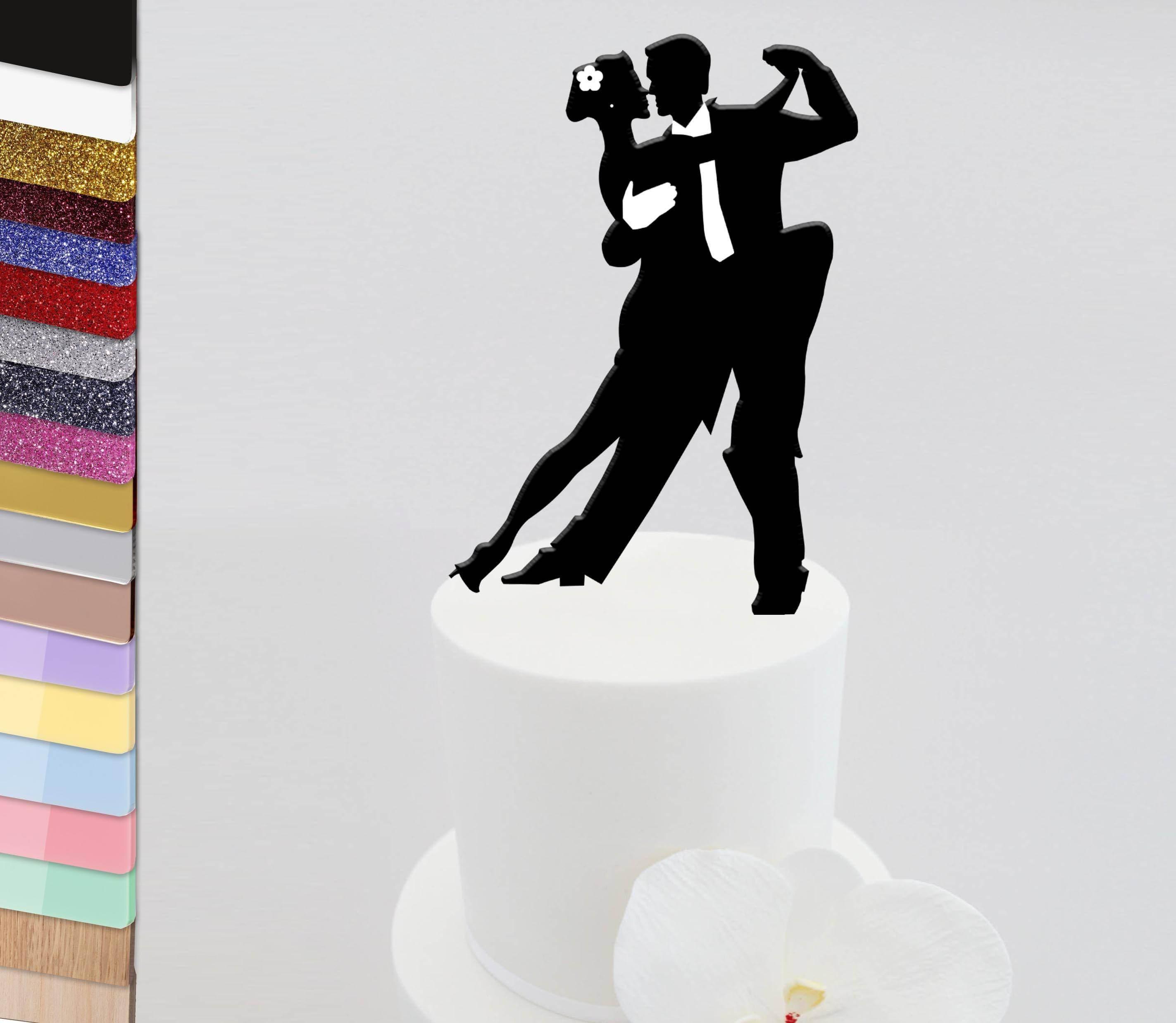 Personalised Acrylic Salsa Latin Dance Cake Topper