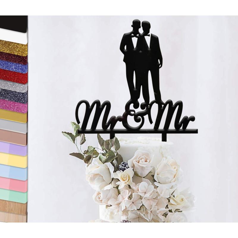 Topper gâteau personnalisé mariage couple gay
