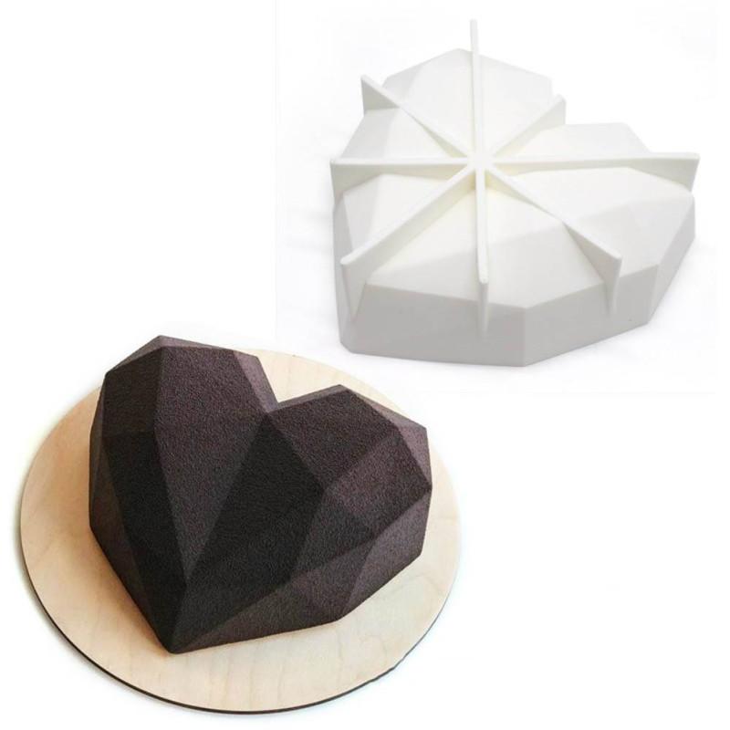 Moule à gâteau Coeur effet Origami - 18 cm