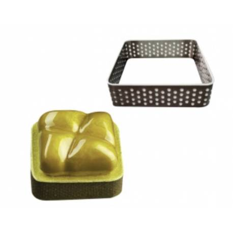 Square perforated tart mould 7 cm