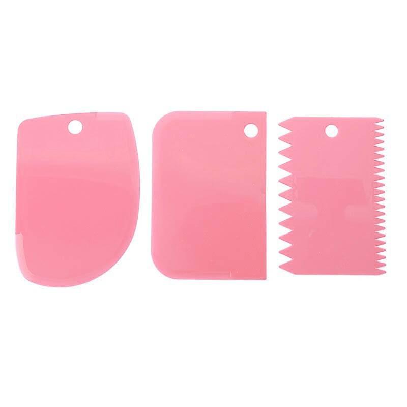 3 cornes de patissier et lisseurs en silicone rose