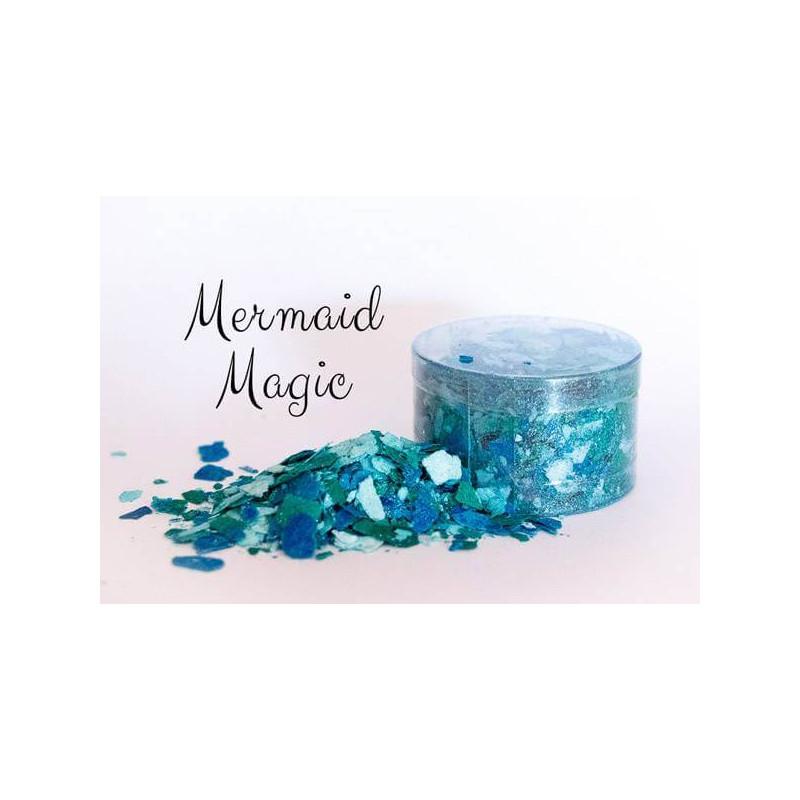 MERMAID MAGIC blue green edible flakes