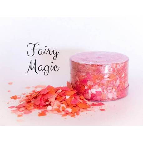 Edible flakes coral red FAIRY MAGIC