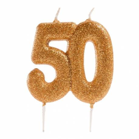 Candle 50th Anniversary GOLD
