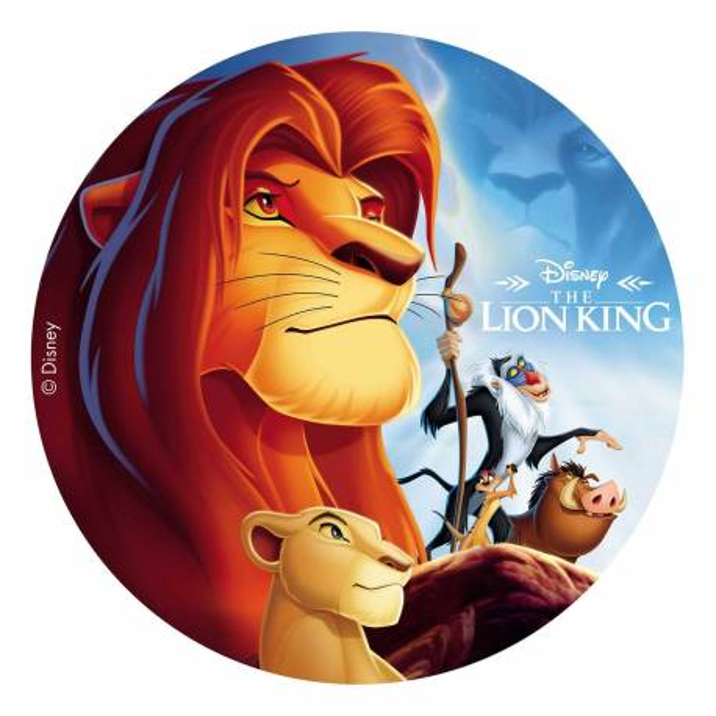 Edible disc The Lion King 20 cm