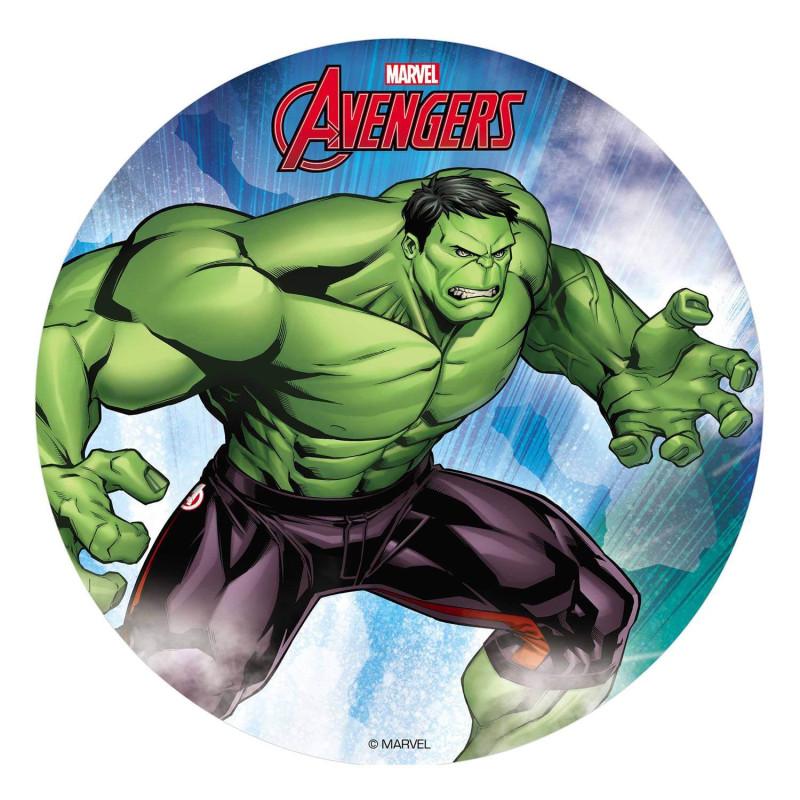 Hulk Disco Comestible 20 cm