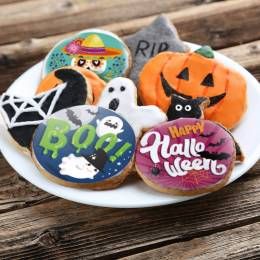 12 disques à cupcakes Halloween