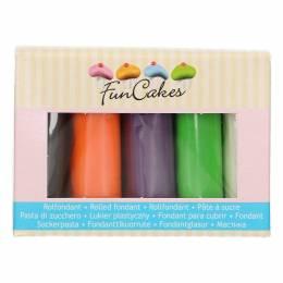 Pack de 5 Pâtes à sucre couleurs Halloween Funcakes