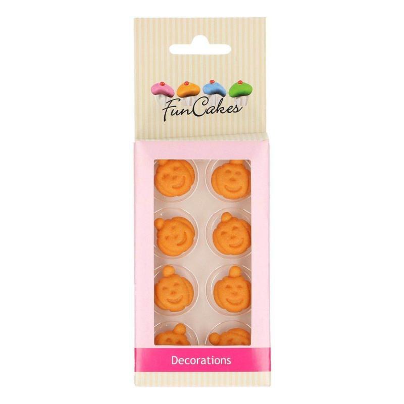 8 Citrouilles Halloween en sucre Funcakes