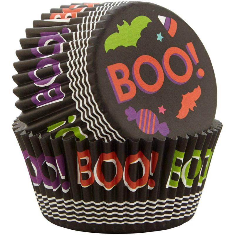 75 caissettes à cupcakes Boo Halloween Wilton