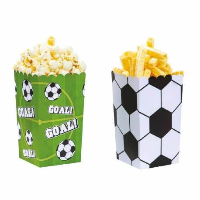 6 pots à popcorn football