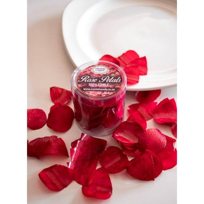 Pétales de rose comestibles rouge