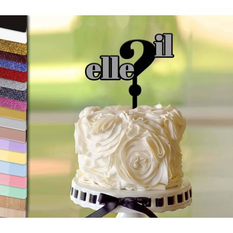 Topper gâteau personnalisé IL ou ELLE