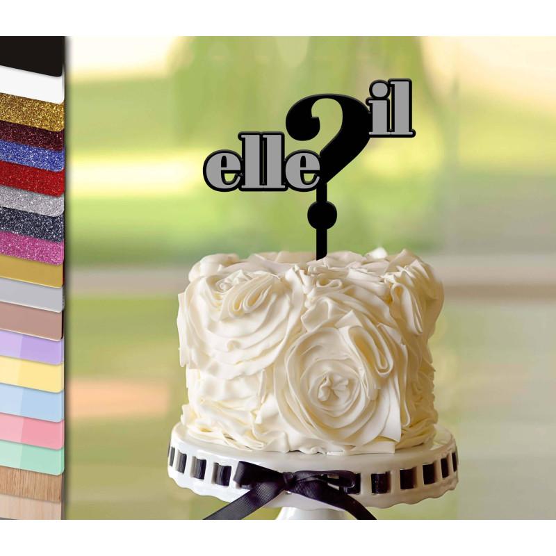 Topper pastel personalizado EL o ELLA