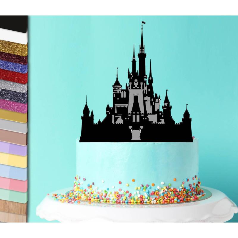 Topper pastel personalizado majestuoso Castillo de Disney