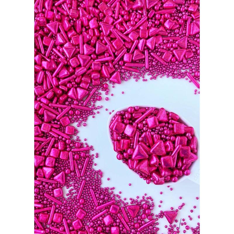 Mezcla de Sprinkles Volver a la fuschia de Sweetapolita 100 g