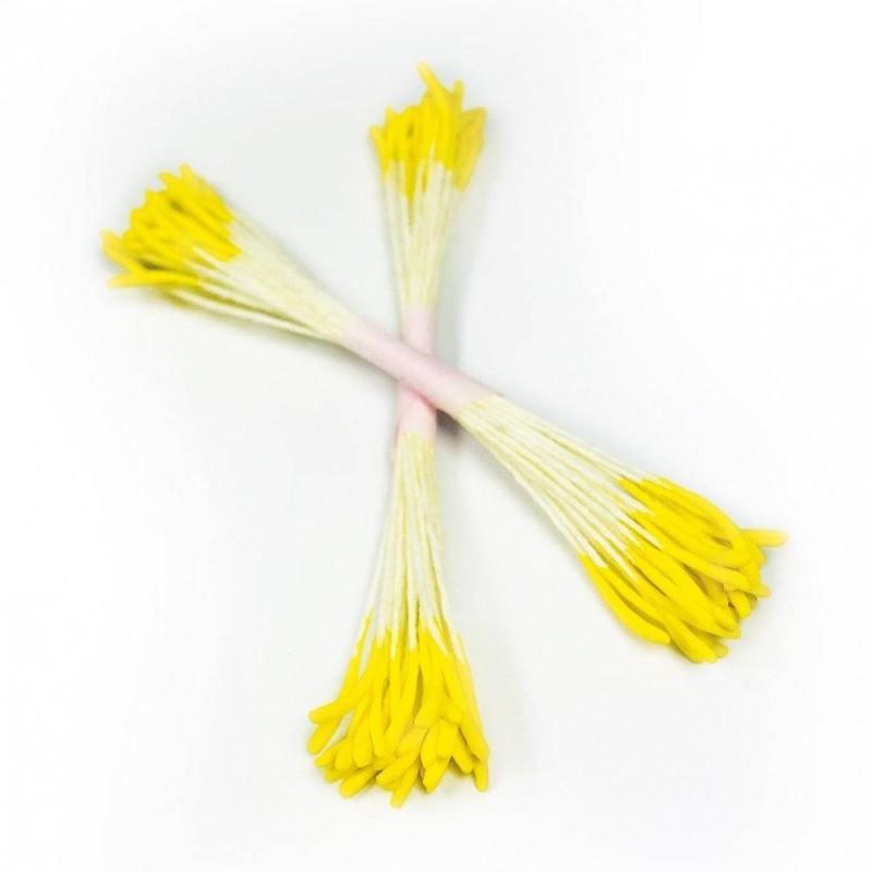 50 pistils jaunes pour fleurs pivoines