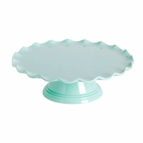 Wave green water cake stand 27,5 cm