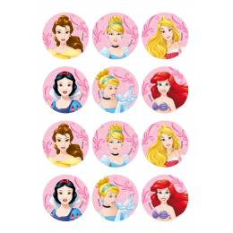 12 Mini Edible Discs The Snow Queen