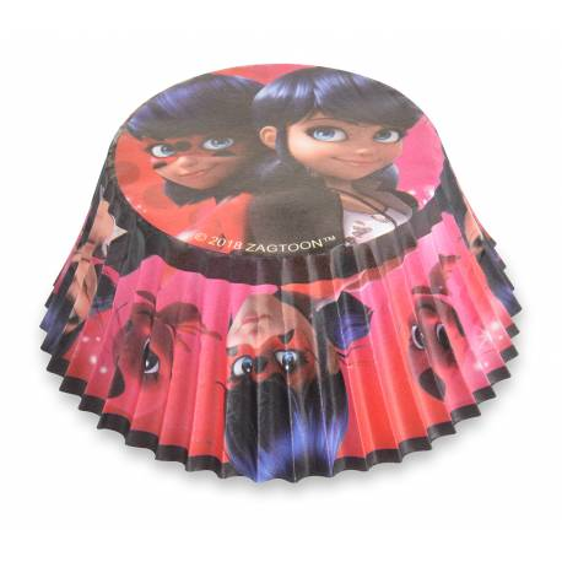 50 MIRACULOUS Lady bug cupcake trays