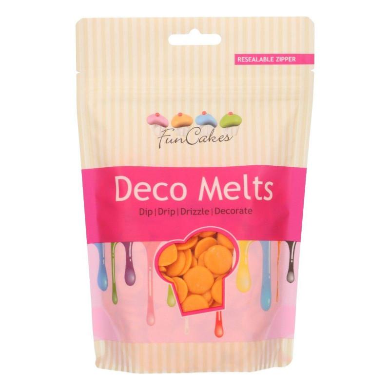 Deco Melt couleur Orange Funcakes 250g