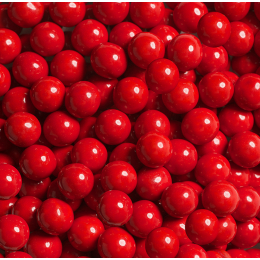 Billes de chocolat 10mm rouge Sweetapolita 211g