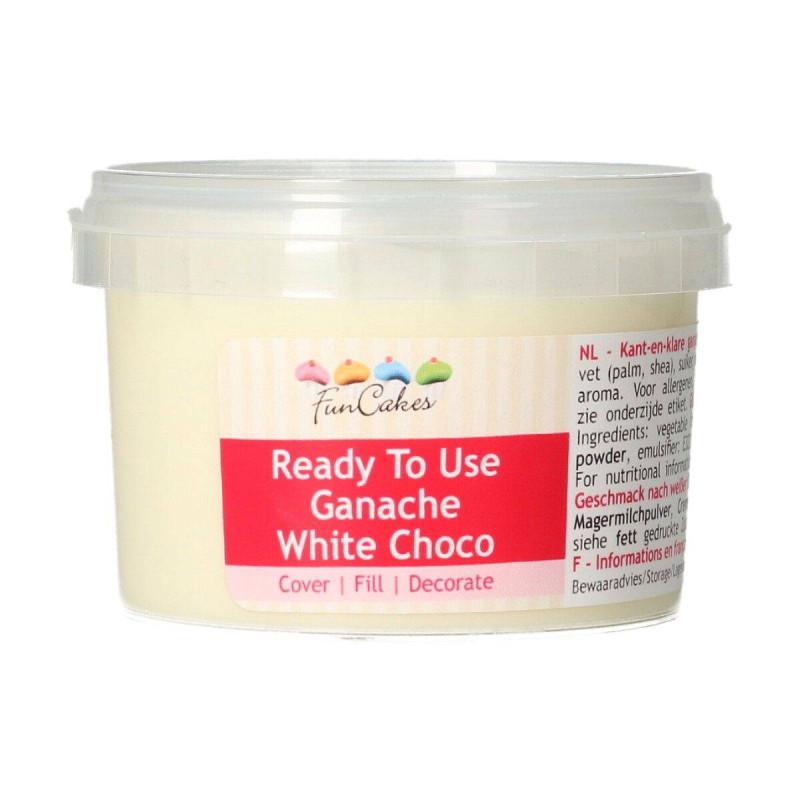Ready-to-use white chocolate ganache Funcakes 260 g