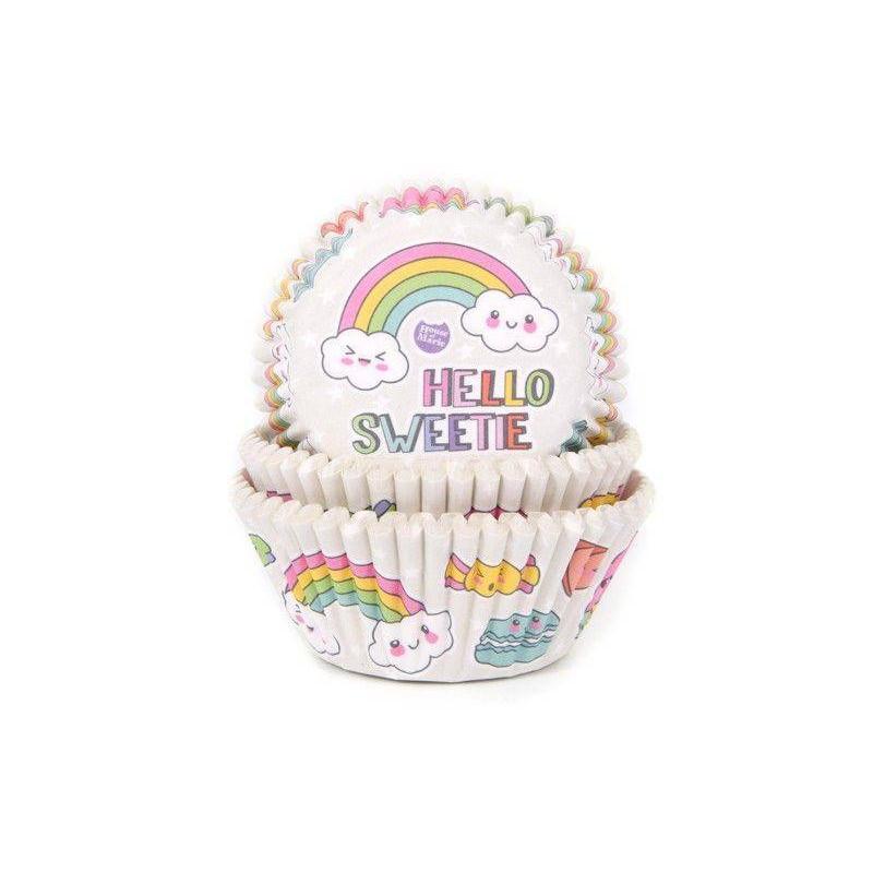 50 Rainbow Cupcake Boxes