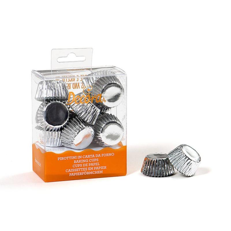 180 mini bandejas de plata para magdalenas