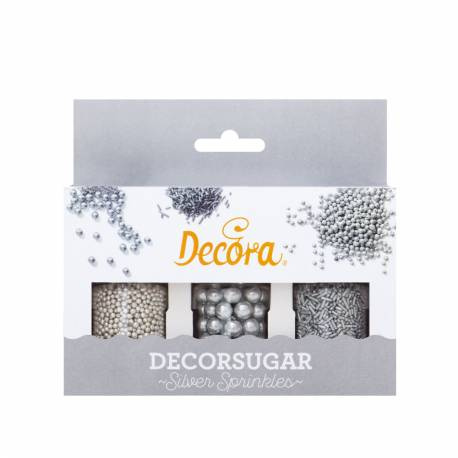 Decoration kit vermicelli beads and silver beads