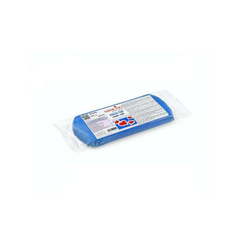 Pâte à sucre tropicale Pasta Top SARACINO 500g bleu