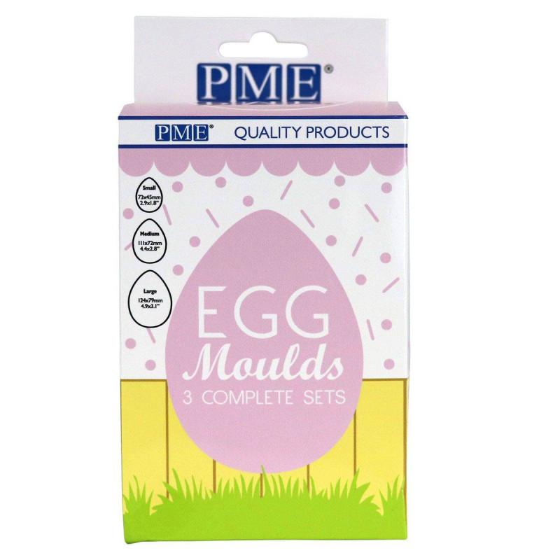Juego de 3 moldes de huevos PME