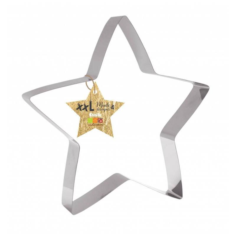 Moule gâteau étoile Découpoir métal Géant 30 cm
