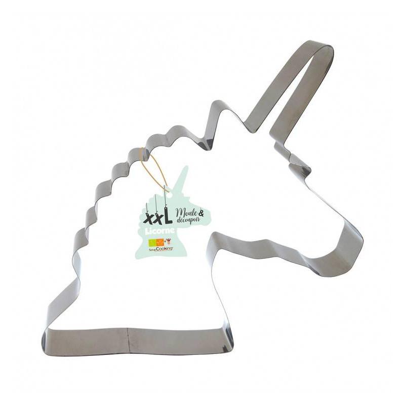 Moule découpoir géant licorne 30 cm