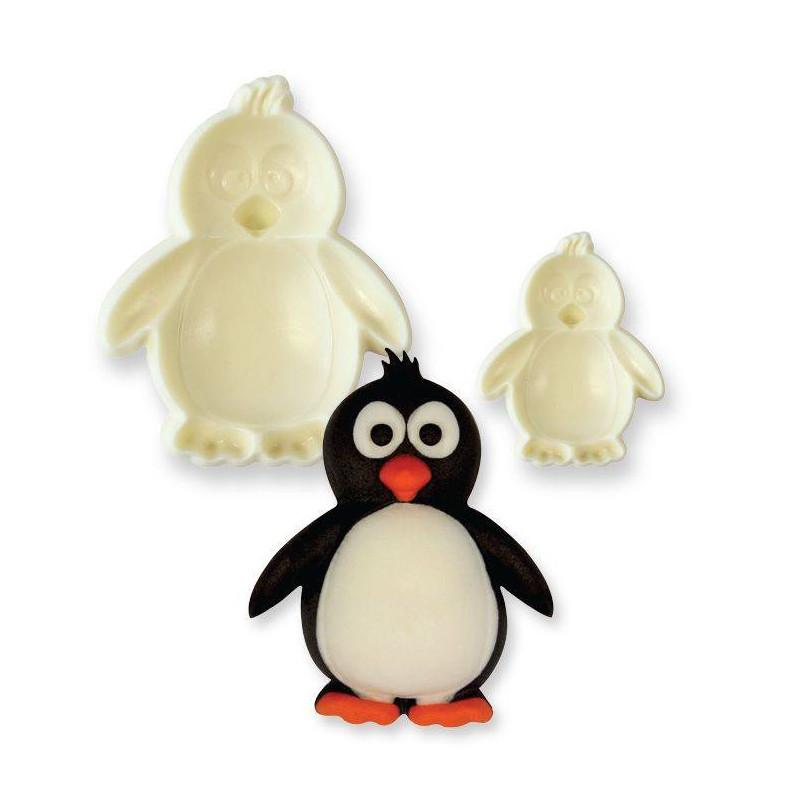 2 3D penguin cookie cutters