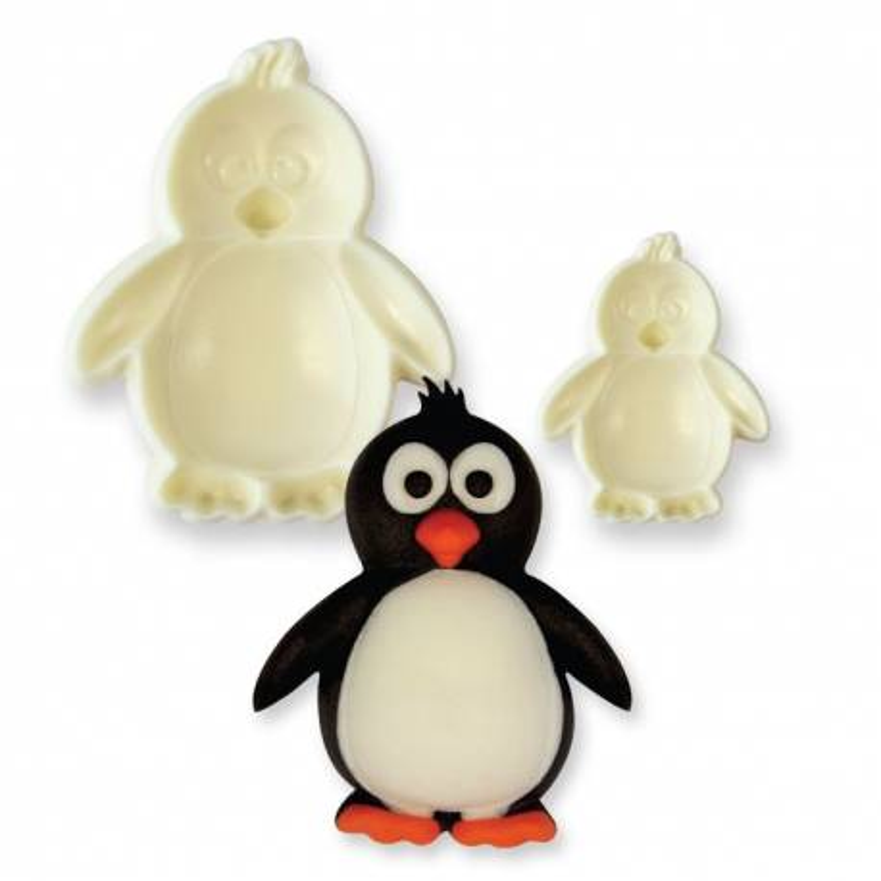 2 cortadores de galletas de pingüino en 3D
