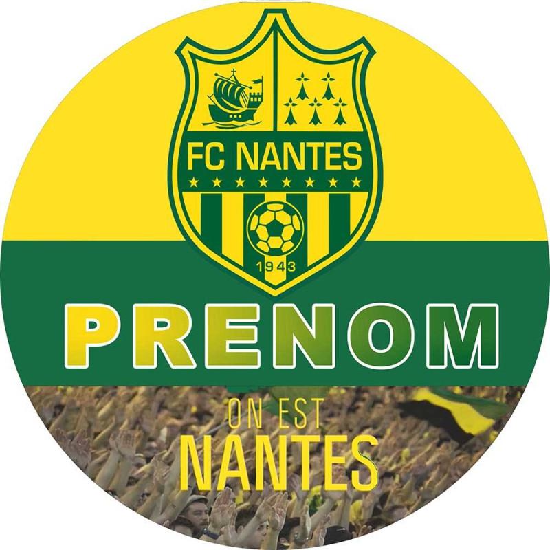 Personalized food printing FC NANTES football club