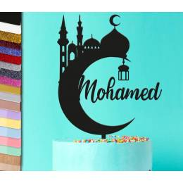 Topper eid Mubarak Mosque Personalized Holiday Cake