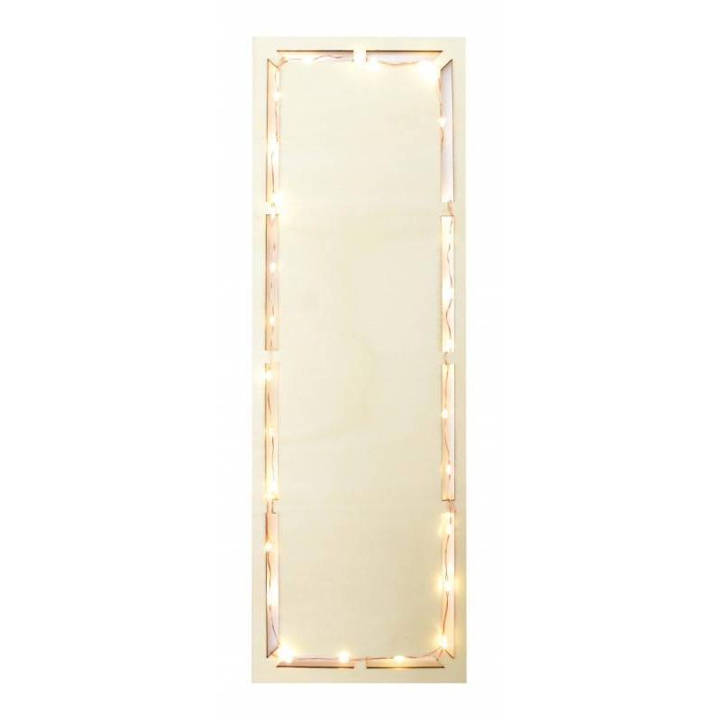 Plato rectangular de leds de 30 cm
