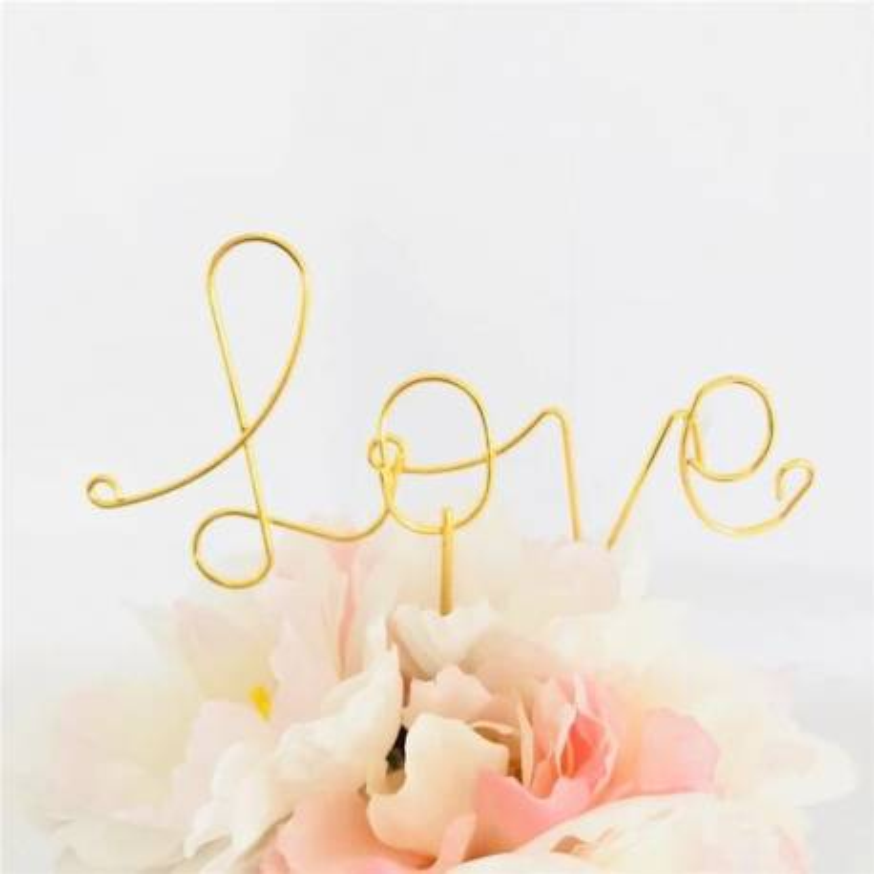 Topper gold-coloured wire love